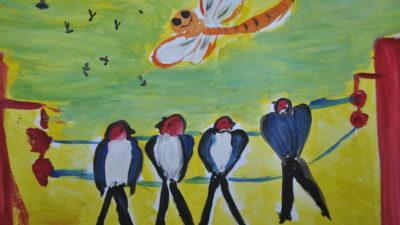 Діти сонцю та дощу. Виставка малюнків у кременчуцькому кафе