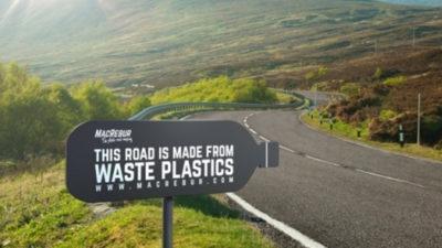 Замість смітника – на дорогу: Шотландський стартап почав будівництво пластикових доріг