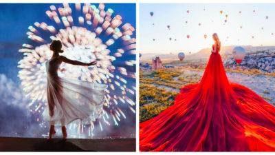 Дівчина у прекрасній сукні – майстерність фотодізайнера