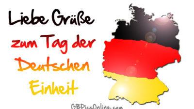 Поздравляем с Днем единства Германии! Liebe Grüße zum Tag der Deutschen Einheit!